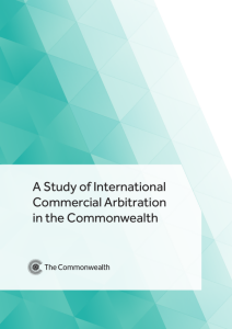 Commonwealth Study into International Commercial Arbitration