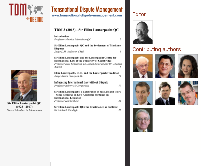 TDM 3 (2018) - Sir Elihu Lauterpacht QC