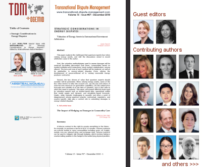 TDM 7 (2018) - Energy Disputes