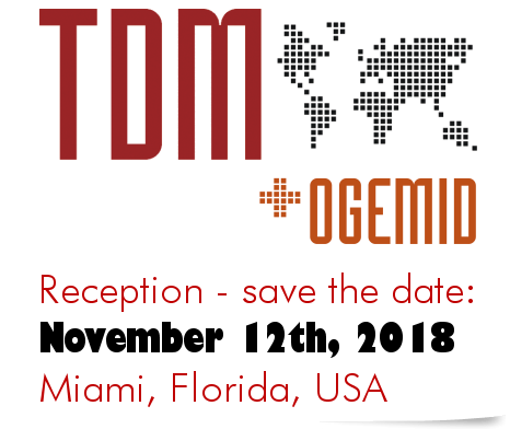 Save the Date: OGEMID-Young-OGEMID and TDM Reception - Miami, Florida, USA. Monday 12 November 2018
