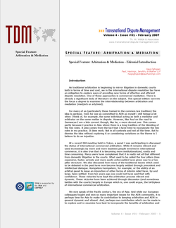 TDM 1 (2007 - Arbitration & Mediation