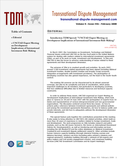 TDM 1 (2008 - UNCTAD Expert Meeting on Development Implications of International Investment Rule Making