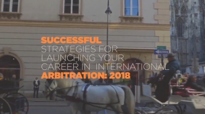 INOVARB-AMCHAM -Successful Strategies for Launching your Career in International Arbitration - Vienna 2018