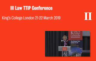Part 2 III LAwTTIP Joint Conference: EU Law, Trade Agreements, and Dispute Resolution Mechanisms: Contemporary Challenges