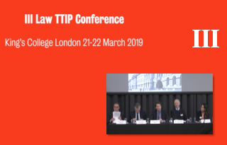 Part 3 III LAwTTIP Joint Conference: EU Law, Trade Agreements, and Dispute Resolution Mechanisms: Contemporary Challenges