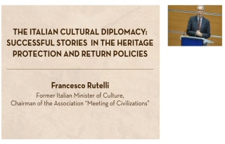 Mr Francesco Rutelli, former Italian Minister of Culture, addresses on The Italian Cultural Diplomacy: Success Stories in the Heritage Protection and Return Policies